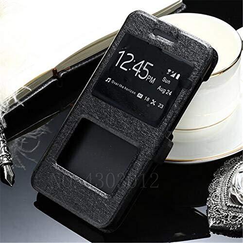 RZL Teléfono móvil Fundas para redmi Nota 5 7 6 5 K20 Pro Plus 4X 4 7A, Caso del tirón del Cuero de Lujo Frontal Inteligente Ventana de visualización para Xiaomi Mi F1 SE 9 8 A2 Lite MAX 2 3