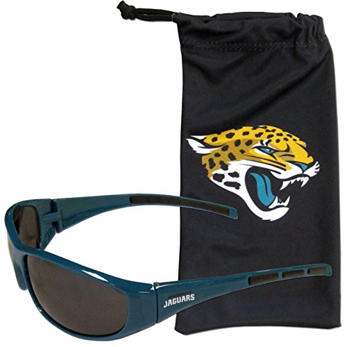 Siskiyou NFL Jacksonville Jaguars Adult Sunglass and Bag Set, Black