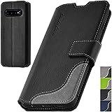 elephones® Handyhülle für Samsung Galaxy S10 Plus Hülle - Kompatibel mit Galaxy S10 Plus Schutzhülle Handy-Tasche Flip Case Schwarz