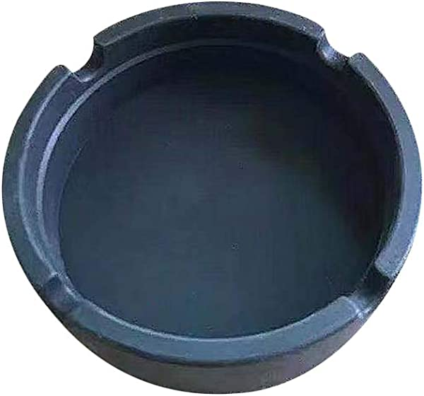 Everd1487HH Lightweight Silicone Soft Round Ashtray Cigarette Holder Heat Resistant Ash Tray Plates Black