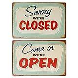 LZYMSZ 2 placas de metal retro de estaño vintage para decoración de pared para café, bar, pub,...