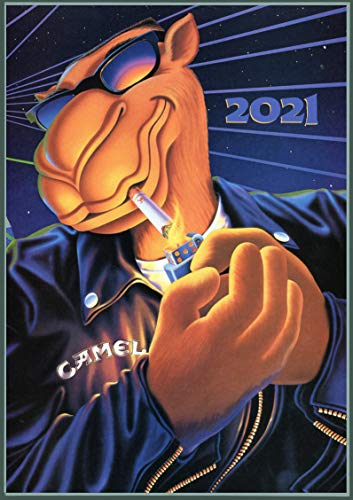 Wall Calendar 2021 [12 pages 8'x11'] Camel Vintage Cigarettes Ads Poster
