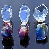TOOGOO 3x Moule en Silicone Transparent Fleur Sechee Resine Artisanat Decoratif BRICOLAGE pierre Forme de coupe de moule Type epoxy resine moules pour bijoux