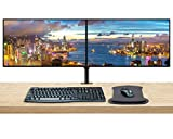 HP Z27u G3 27 Inch 2560 x 1440 QHD IPS LED-Backlit 2-Pack Monitor Bundle with Blue Light Filter, HDMI, DisplayPort, USB Type-C, MK270 Wireless Keyboard and Mouse, Gel Mouse Pad, Dual Monitor Stand