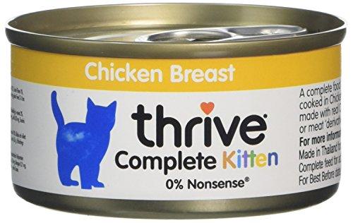Thrive Complete con Pollo per Gattini, 12 x 75 gr (pacco con 12 lattine)