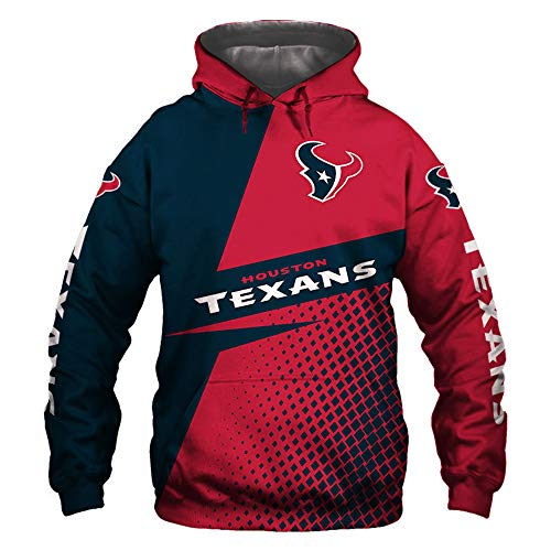 XHDH NFL Rugby Sudaderas Capucha Houston Texans -