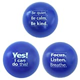 MOTIVATIONAL STRESS BALLS with an assortment of inspirational sayings, each foam squeeze ball with a different positive quote, designed to provide natural stress relief for adults or kids, men or women alike PERFECT UNIQUE GIFT IDEA for parents, scho...