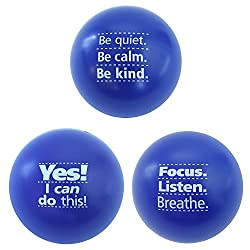 Teacher Peach Motivational Stress Balls
