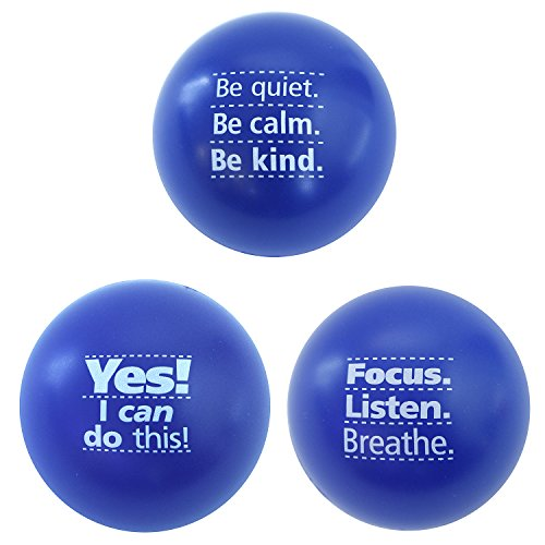 Teacher Peach Motivational Stress Balls, 3 Pack, Perfect Funny Teacher Gifts, Office Gifts for...