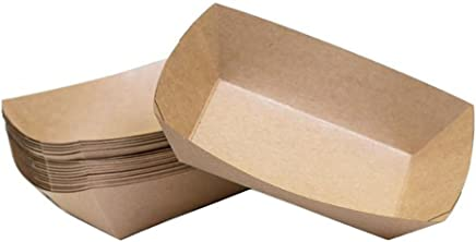 Preisvergleich für Demarkt Papier Fast Food Schalen Einwegschälchen Einweg Schiffchen Servierschale Snackschale