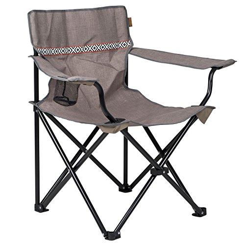 BO-Camp Romford klapstoel, campingstoel, strandstoel, vouwstoel, visstoel met bekerhouder, 100 kg
