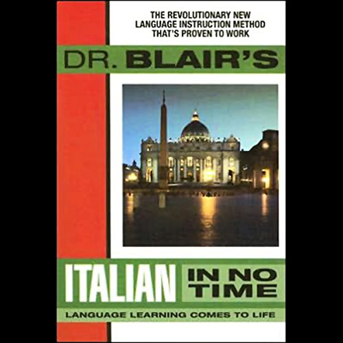 Dr. Blair's Italian in No Time audiobook cover art
