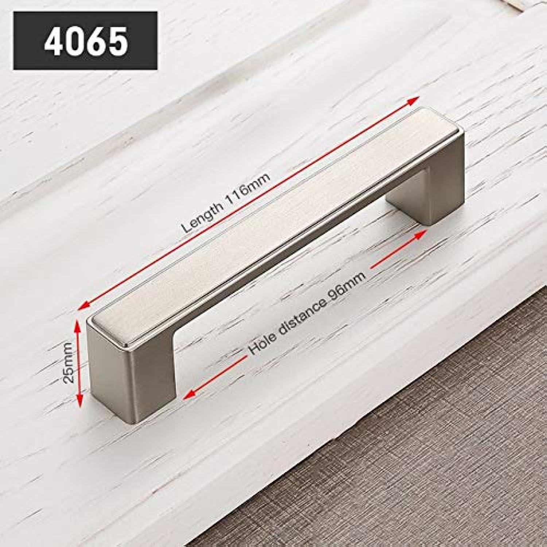 KAK 5pcs Zinc Alloy Modern Sliver Door Handles Elegant Drawer Pulls Knobs Kitchen Cabinet Handles Furniture Handle Hardware  (color  Handle406596S)