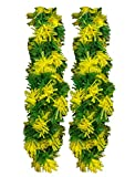 Momentum Brands Easter Tinsel Garland Decorations 2 pcs - 18 Ft. Total (Yellow/Green)