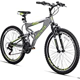 Merax 26' Full Suspension 21 Speed Mountain Bike with Linear Pull Brake