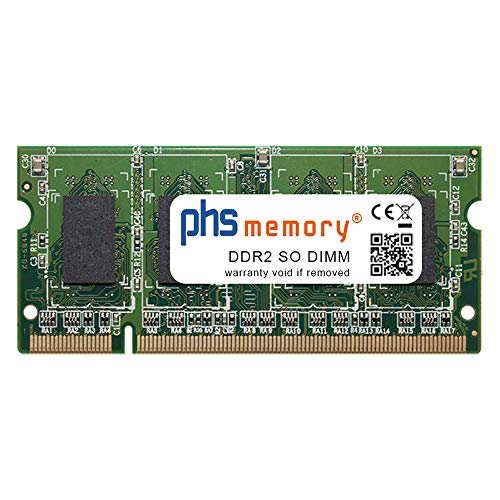 PHS-memory 512MB RAM módulo para Lexmark XS860de DDR2 SO DIMM 667MHz PC2-5300S