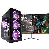 Pc Gamer One Completo com Monitor de 23.8' Concórdia Core i5 8gb Hd 1tb Placa de Vídeo 4gb com Wifi