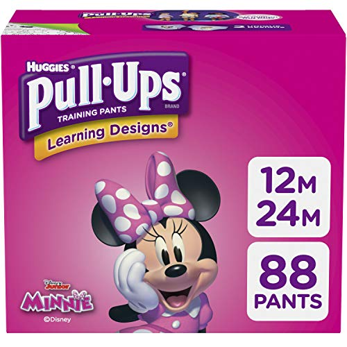 Pull-Ups Learning Designs for Girls Potty Training Pants, 12-24 Months  (14-26 lbs.), 88 Ct. (Packaging May Vary)