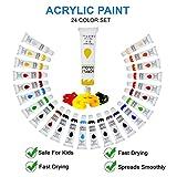 Zoom IMG-1 24 colori acrilici per dipingere