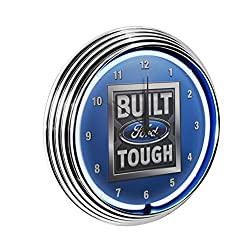 Yates Performance Neonetics Built Ford Tough Neon Wall Clock, 15-Inch