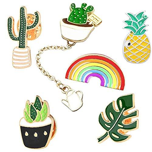 GuassLee Cute Enamel Lapel Pin Set - Cartoon Brooch Pin Badges for Clothes Bags Backpacks