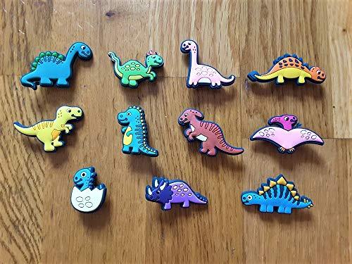10 Stück / 2D PVC Schuh Charms – Dinosaurier – ähnlich wie Jibbitz & passend für Crocs