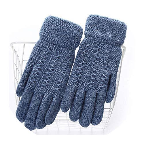 Damen Winterhandschuhe, warm, süßes Cartoon-Design, für Touchscreens, Schwarz, Damen, E Sea Blue, oneszie