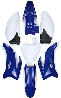 Fairing ABS plástico Cubierta Lateral Delantera Guardabarros Trasero Lateral Cubiertas matrícula Soporte Set de carenado para Yamaha TTR110 y Clone Bike