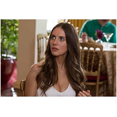 Alison Brie 8 inch x 10 inch Photograph Get Hard (2015) Seated Looking Right kn