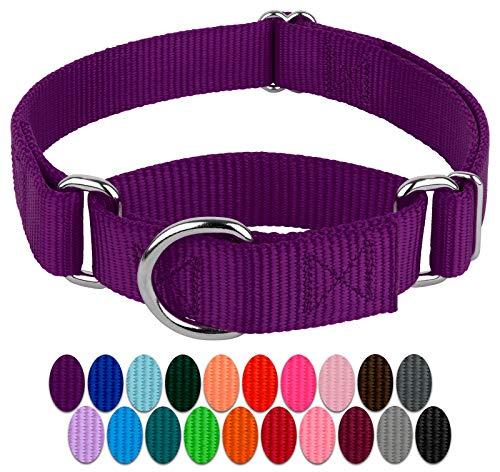 Country Brook Design - Martingale Heavyduty Nylon Dog Collar - Purple - Large