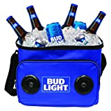 Bud Light Soft Cooler Bluetooth Speaker Portable Travel Cooler with Built in Speakers BudLight...