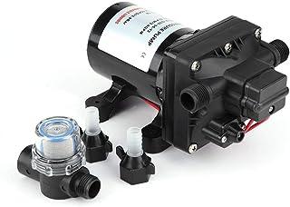 GOTOTOP RV Water Pump,55 PSI Water Pump,3 Gallons per Minute 7.5 Amps 12V DC RV Caravan Self-Priming Water Pump 4008-101-E65 for Caravan RV Boat Marine