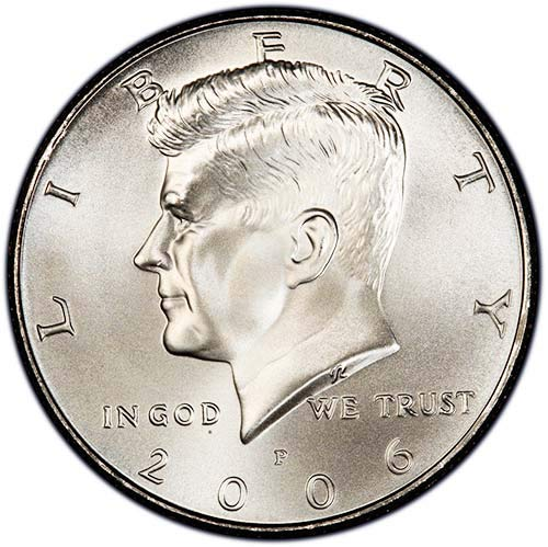 2006 P Satin Finish Kennedy Half Dollar Choice Uncirculated US Mint