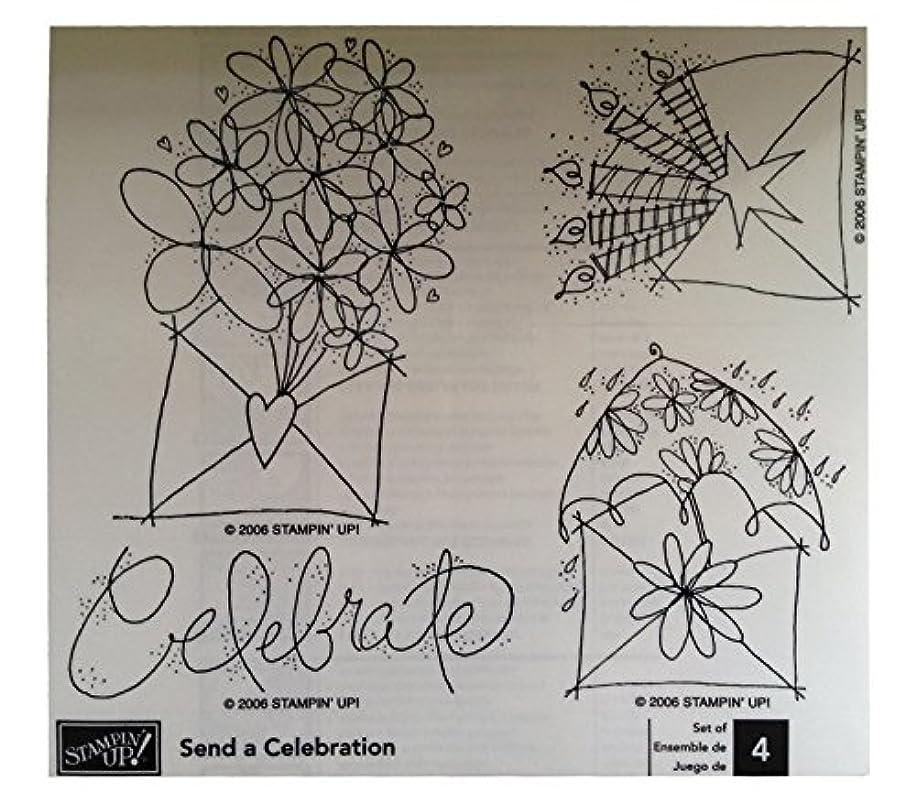 Send a Celebration Rubber Stamp Set of 4