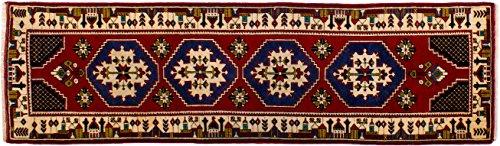 Lifetex.eu Teppich Läufer Yahyali Türkei ca. 75 x 265 cm Rot handgeknüpft Schurwolle Klassisch hochwertiger Teppich
