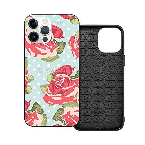 Compatibile con iPhone 12/11 PRO Max 12 Mini SE X/XS Max XR 8 7 6 6s Plus Custodie Kidston Flowers Polka Rose Floral Roses Cath Flower Nero Custodie per Telefoni Cover