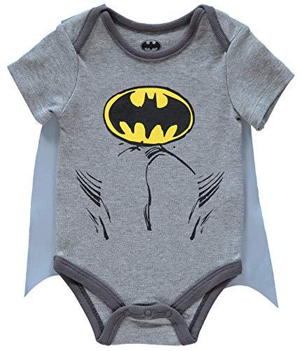 DC Comics Baby Boys' Batman Bodysuit with Detachable Cape,...