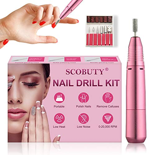 Nail Drill Machine,Electric Nail Drill,Electric Manicure Set,Nail File Drill Set Kit,Professional Electric Manicure Pedicure Nail File Set,Gel Nails,Polishing Shape Tools Design for Home Salon