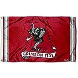 College Flags & Banners Co. Alabama Crimson Tide Vintage Retro Throwback 3x5 Banner Flag