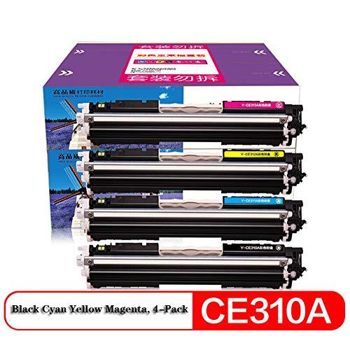 XHJZ Kompatible Toner Cartridge Ersatz für CE310A / CRG329 CP1025nw, High Yield Arbeit für HP M175A M175nw M275MF Canon LBP7010A 7018C Druckerpatronen, 4er-Pack (Schwarz, Cyan, Magenta, Gelb)