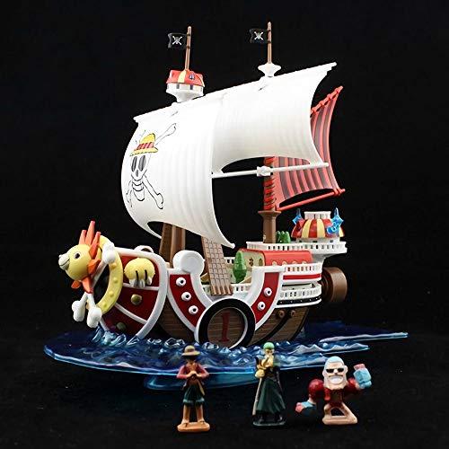QIYHB Einteilige Anime Figur Wanli Sonnenschein Ruffy Sauron Frankie Piratenschiff Premium Edition Skulptur Dekoration Dekoration Statue Figur Modell Spielzeugpuppe Hoch 24cm