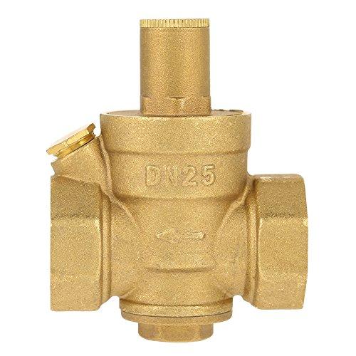 Ottone Regolabile Riduttore di Pressione Dell'acqua Regolatore Valvola Rubinetto Valvola Limitatore Idraulico Discussione DN25 1 (DN25)