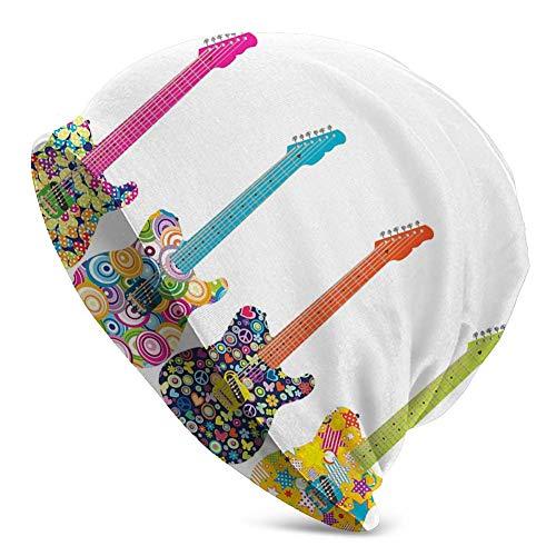 Mamihong Gorro de Punto de Punto Beanie, diseño de Guitarras eléctricas con...