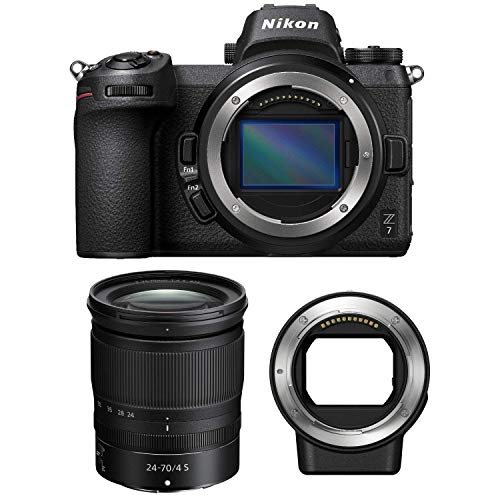 Nikon Z7 FX-Format Mirrorless Camera Z 24-70mm Lens & Mount Adapter