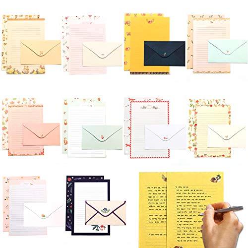 papel de carta y sobres,Juego de papel de carta,sobre de papel de carta,sobre y papel de carta,Bloc de cartas con sobres,Juego de papel de cartas con sobre,papel de carta de papelería (animal)