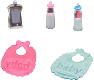 zbtrade Miniature Doll House Play House Baby Bibs Mini Milk Bottle Great Gift Cute Toy