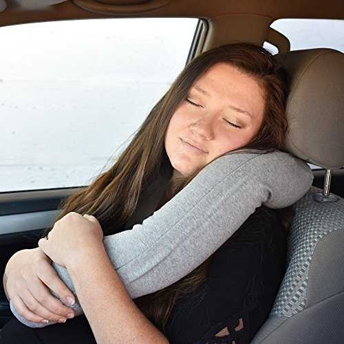513zvor4d9L - Twist Memory Foam Travel Pillow for Neck, Chin, Lumbar and Leg Support - For Traveling on Airplane, Bus, Train or at Home - Best for Side, Stomach and Back Sleepers - Adjustable, Bendable Roll Pillow