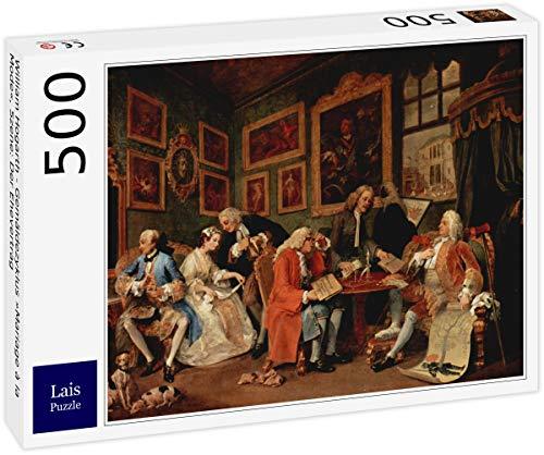Lais Puzzle William Hogarth - Ciclo de Pinturas Matrimonio à la Mode, Escena: El Contrato de Matrimonio 500 Piezas