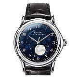 月相 時計 メンズ,自動巻き腕時計 おしゃれ LOBINNI メンズ お洒落時計高級ブランド50M 防水機械式男性用腕時計ビジネス,ムーンフェイズ 1810 (時計 メンズ P1)