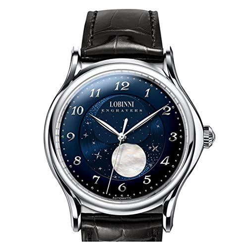 Moon Phase Watch, Luxury Watches for Men LOBINNI...